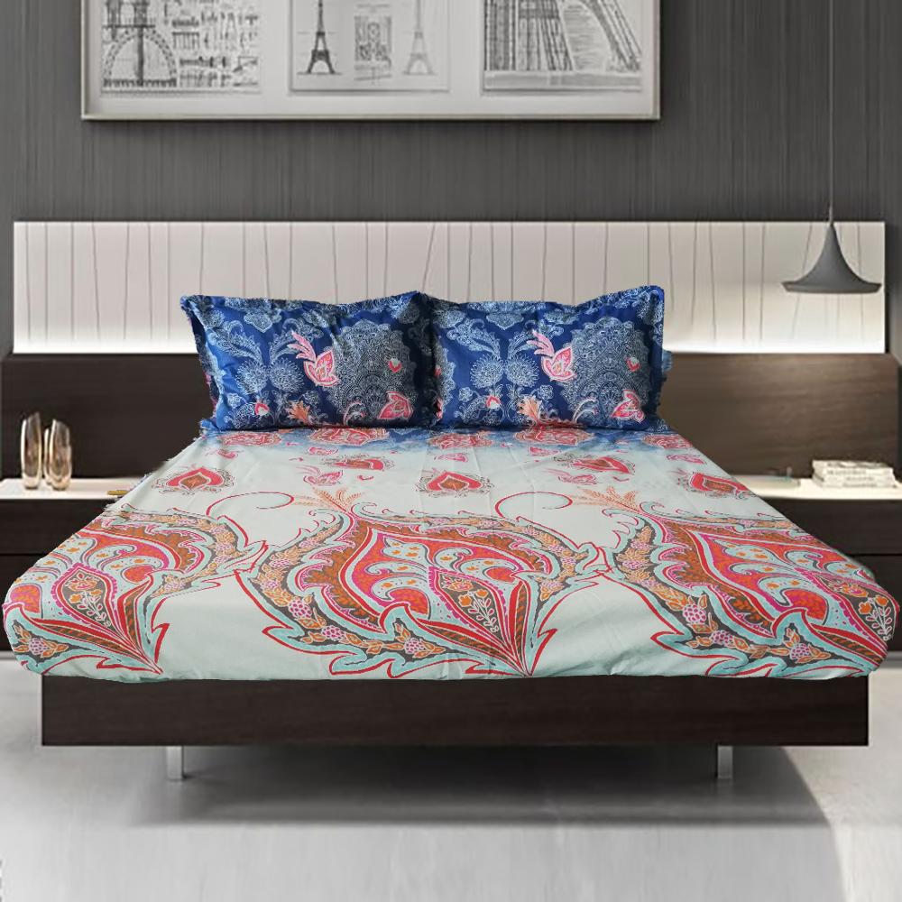 cearceaf pat cu elastic 160x200cm+fete perna cod099
