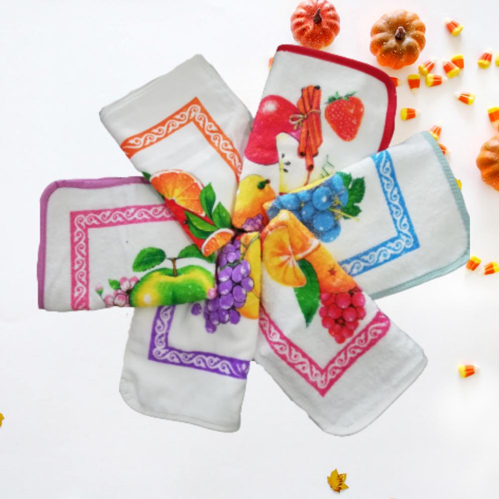 Set-6 Prosoape bucatarie imprimate Fruits