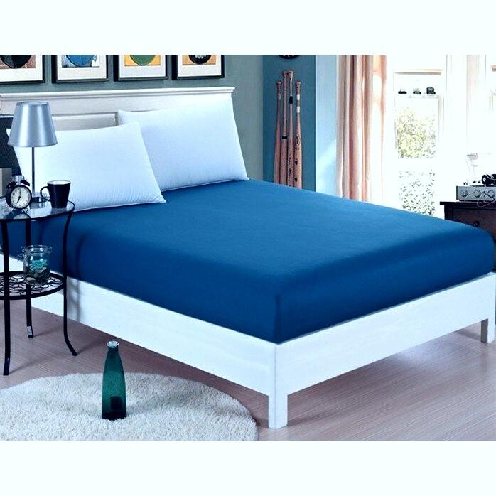 Husa frotir mavi blue 180x200 cm