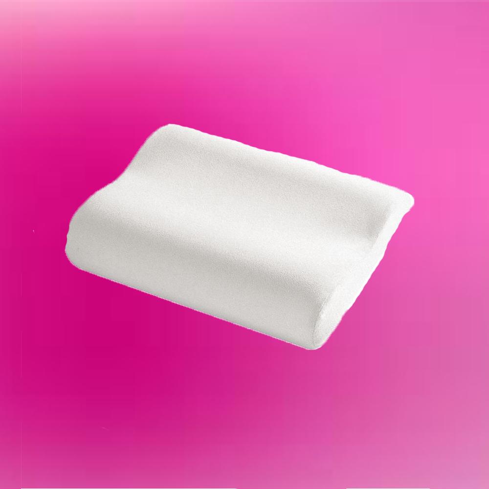 Perna ergonomica cu spuma cu memorie pentru un somn relaxant, 47x30+10 cm